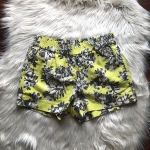 J. Crew. Factory floral pull on shorts size 00